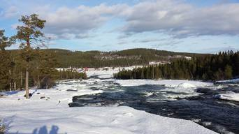 Winterlicher Storforsen